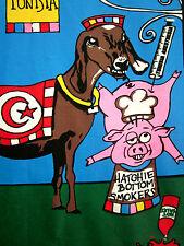 HATCHIE BOTTOM SMOKERS large T shirt redneck BBQ Tennessee OG camel & goat logo