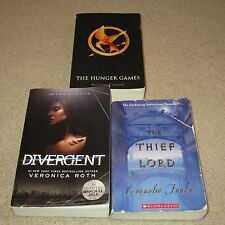 Lot of 3 Young Books: The Hunger Games Bk. 1, Divergent Bk. 1 & The Thief Lord