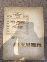 Rare SIGNED Music Book 1904 Alicia A Needham Twelve Small Songs For Small People