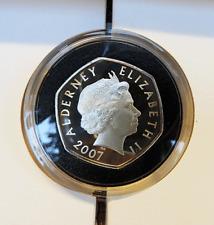 Alderney Silver Proof Crown - Royal Diamond Wedding Anniversary 2007 - Mint Pack