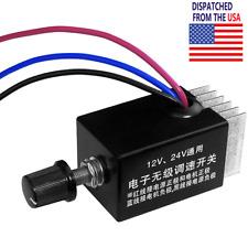 Dc 12v 24v Motor Speed Controller Switch Car Truck Fan Heater Control Defroster