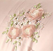 Queen Comforter Set Vintage Floral Pink Pillow Bridal Teen Girl Bedroom Bed 5 PC