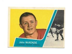 1963-64 Topps:#42 John Mckenzie,Black Hawks