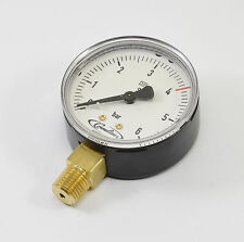 NEW! Cornelius Manometer low Pressure 0-6 bar Argon Co2