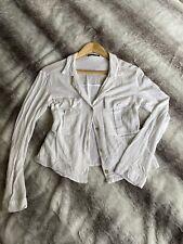 Zara White Linen Cotton Shirt Size XS 6/8