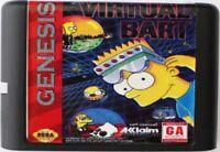 Virtual Bart (1994) 16 Bit Game Card For Sega Genesis / Mega Drive System