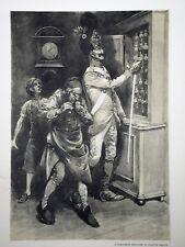 c71-79 Gravure contes & récits d'Alsace l'exécution du diable