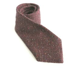 Vintage 1970's Glengala Men's Wool Tweed Tie Scottish Fabric Made in USA