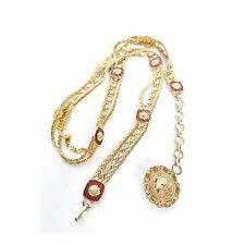 VTG Rare 80s 90s Versace gold chain belt with lion head rare luxury fashion S