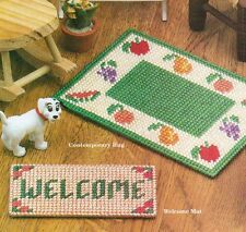 EASY DOLLHOUSE RUGS FASHION DOLL PLASTIC CANVAS PATTERN INSTRUCTIONS