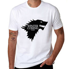 Game of Thrones Ice Wolf Printed Tops Cotton Short Sleeve Men's T-Shirt funny