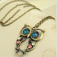 2016 Long Owl Necklace Pendants For Women Wedding Jewelry Accessories Collares