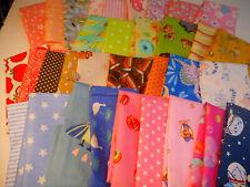 "Scrap Cotton Fabrics 11""x 9"" Mask/Crafts, Kids, Novelty Bundle,10 pc Elastic"