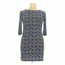 En Focus Studio Women's Dress size 14,  blue/navy, white,  polyester, spandex