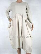 Robe tunique beige coton pour femme