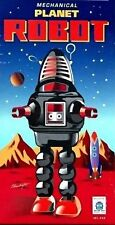 Schylling 9 inch Robby Mechanical Planet Robot Wind-Up Tin Toy (Black) MIB