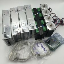 CNC 4Axis Kit 4pc Nema34 Stepper Motor+4pc Driver+4pc Power Supply+5Axis Board