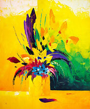 Still Life Flowers A1+ High Quality Canvas Print