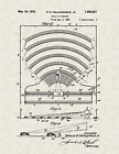 """1932 Drive In Theater by Hollingshead Vintage U.S. Patent  8.5"""" x 11"""" Art Print"""