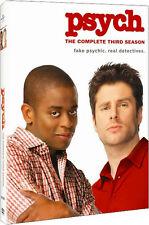 Psych . The Complete Season Three . 3. Staffel . 4 DVD . NEU . OVP
