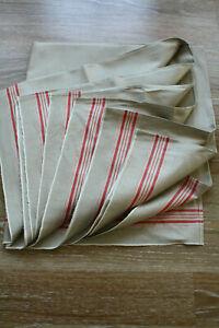 altes Rolltuch,antik Mangeltuch Leinen Mangelcloth roter Streifen,2,97 m x 0,90m