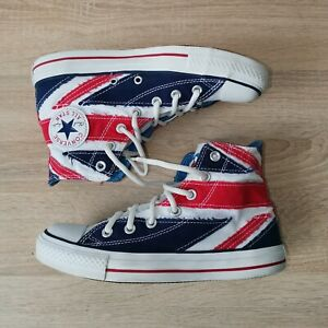 Converse Chuck Taylor 'The WHO' high top sneakers 2008 British Flag M-6 W-8