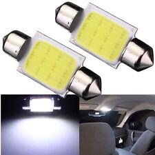 2x Bombilla 36mm C5W COB LED Festoon COCHE Bright Blanco Interior Número Lámp