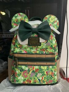 "Disney Minnie Mouse Main Attraction ""The Enchanted Tiki Room"" Loungefly Backpack"