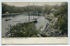 Sailing Ship Purcell's Cove North West Arm Halifax Nova Scotia Canada postcard