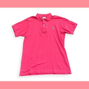 Vintage Lacoste Classic Pink Short Sleeve Polo Shirt Jersey Small