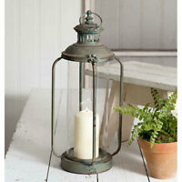 Tall County Cork Lantern in Distressed Metal