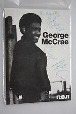 George McCrae  - Musik -  original Autogramm  - Grösse 15 x 10 cm