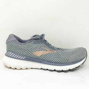 Brooks Womens Adrenaline GTS 20 1202961B073 Gray Gold Running Shoes Size 9 B