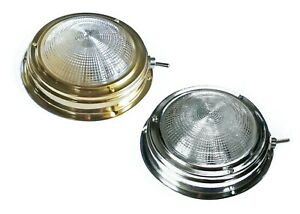 Classic Dome light for Boats, Caravans, Horseboxes, 140mm, 12v or 24v INL112x