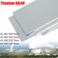 4 Sizes 6al-4v Thick Silver Industrial Titanium Metal Plate Sheet 3/4/7mm