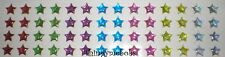 56 STAR STICKERS/SELF ADHESIVE - MIXED COLOURS