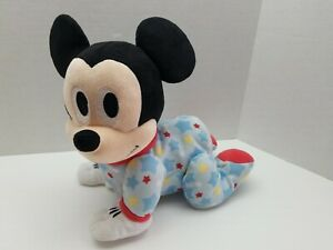 Disney Baby Musical Crawling Pals Plush Mickey Mouse Crawls Sounds Music