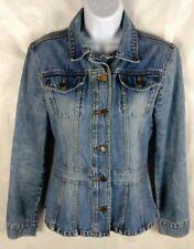 Periscope Button Front Denim Jacket Women's Small Cotton LS Blue PS3983