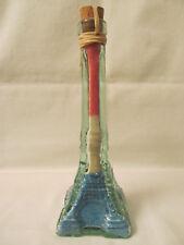 """Vintage 8"""" Eiffel Tower Shape Decorative Red, White & Blue Bath Salts Bottle"""