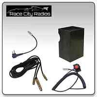 NASCAR Race Car Wire Harness for MOTOROLA + Velcro Mount PTT Switch + Radio Box