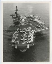 1970s 8x10 Original US Navy Aerial Photo of USS Midway CV-41