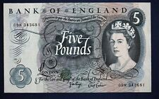 "Bank of England, Five pounds, Page, Prefix ""09M"" REPLACEMENT £5 Banknote *[6731]"