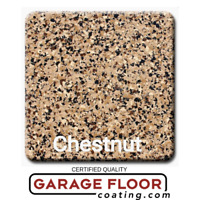 """5 lbs - Decorative Color Chip Flakes for Epoxy Floor Coatings, 1/4"""" Chestnut"""