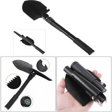 Multi-functional Mini Military Folding Shovel Survival Tool w/ Pick Tool & Case