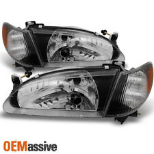 Fits 1998-2000 Corolla Headlights + Corner Signal Lamps Lights Set Left+Right