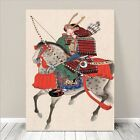 "Traditional Japanese SAMURAI ARCHER Art CANVAS PRINT 36x24""~ Riding Horse #052"