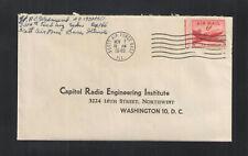 1949 CAPITAL RADIO ENGINEERING INSTITUTE WASHINGTON DC US ADVERTISING COVER