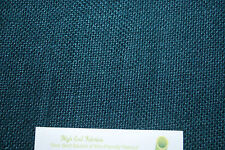 Linen 100% Natural Fiber Heavy Basket weave woven fabric 17oz L/YD Teal