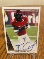 2018 NFL Leaf Ultimate Draft KEKE COUTEE AUTO GOLD LEAF STAR TEXANS ROOKIE RC