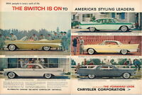 Original 1957 Chrysler Dodge line Imperial 2 page ad 21 x 14 inch Tavern Trove